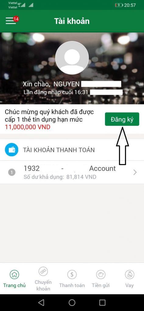Đăng Ký Vay tiền qua Ứng Dụng của Ngân Hàng