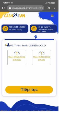 Tải file chụp CMND/CCCD