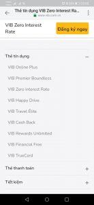 Chọn dòng thẻ tín dụng VIB Online Plus