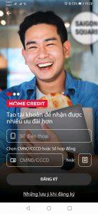 đăng ký tài khoản HOME CREDIT bằng Số Điện Thoại & CMND/CCCD hoặc Mã HĐ vay tại Home