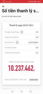 Tra cứu số tiền thanh toán HOME CREDIT bằng ứng dụng của HOME